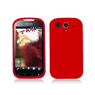 Red Soft Silicone Gel Skin Cover Case for Huawei T Mobile myTouch Unite U8680 Cell Phones & Accessories