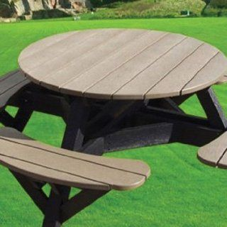 CR Plastic Products Round Picnic Table