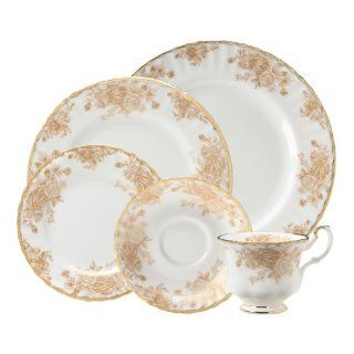 Royal Doulton Royal Albert Old Country Roses Gold 5 Piece Place Setting Kitchen & Dining