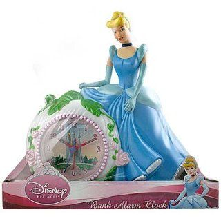 Disney Princess Cinderella Bank Alarm Clock   Childrens Clocks
