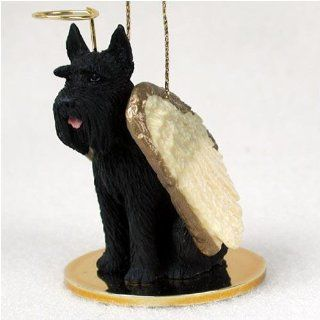 Giant Schnauzer, Black Tiny Ones Dog Angels (2 in)