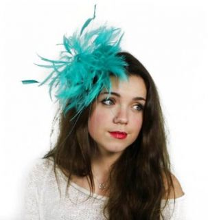 Hats By Cressida Jade Green Feather Kentucky Derby Fascinator Hat With Headband Clothing