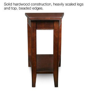 Leick Laurent Recliner Triangle End Table   Triangle Table Cherry