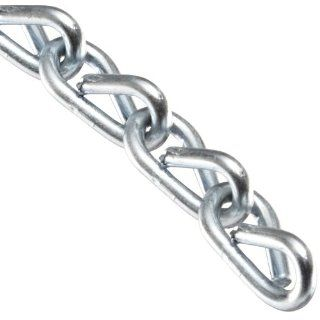 "Campbell 0721627 Low Carbon Steel Double Jack Chain, Zinc plated, #16 Trade, 0.06"" Diameter, 11 lbs Load Capacity, 200 Feet Reel Coil Chains"
