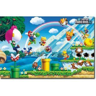 Nintendo Super Mario Bros U Video Game Poster   Wii U Games