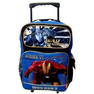 Iron Man 2 War Machine Large Rolling Backpack   Iron Man Wheeld Backpack Sports & Outdoors