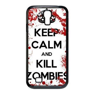 Keep Calm and Kill Zombies SamSung Galaxy S4 I9500 Case for SamSung Galaxy S4 I9500 Cell Phones & Accessories