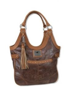 Cowgirl Up� Running Horse Classic Western Shoulder Bag Brown Clothing