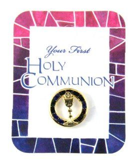 6030156 Holy Communion First Communion Lapel Pin Gift Present Cup Chalice Server Layman Host Jewelry