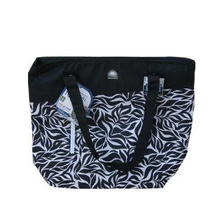 California Innovations High Performance Thermal Tote 56 Can Cooler Bag for Hot or Cold   Black/white  Camping Coolers  Patio, Lawn & Garden