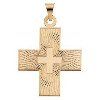 14K Yellow Gold Greek Cross Pendant Reeve and Knight Jewelry