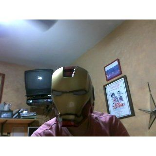 Disguise Avengers Iron Man Adult Helmet, Gold/Red, One Size Costume Clothing