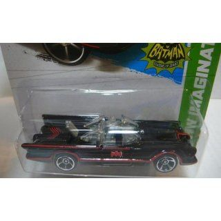 "Hot Wheels   Classic TV Series BATMOBILE (Black w/Red thin Stripes & ""Red Batman Logo"")   HW Imagination 2013   62/250 [Scale 164] Toys & Games"