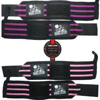 Wrist Wraps (2 Pairs/4 Wraps) for Weightlifting/Crossfit/Powerlifting   For Women & Men   Premium Quality Equipment & Accessories for the Absolutely Best Hand Strength & Support Possible   Guard & Brace Your Wrists With this Gear to Avoid I