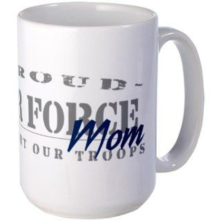 Proud Air Force Mom Blue Large Mug   Standard Multi color Kitchen & Dining