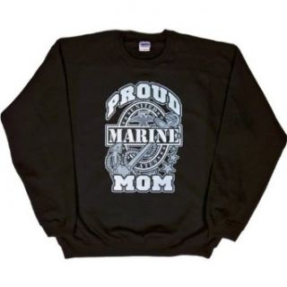MENS SWEATSHIRT  ASH   SMALL   Proud Marine Mom   Military USMC Clothing