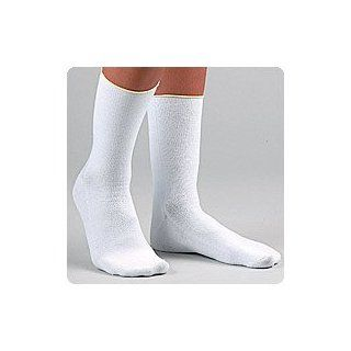 Pressure Relieving Diabetic Socks Crew Length White Large Mens 9 12/womens 10 13 Provides Extra Padding in Key Areas of the Foot Without the Added Bulk, Ensuring a Comfortable Fit Into Any Shoe Health & Personal Care