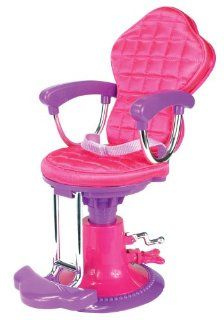 Doll Chair, Salon Doll Chair fit for 18 Inch American Girl Doll Bed Room, Doll Furniture Provides a Perfect Doll Salon Chair for Brushing your Dolls Hair Toys & Games