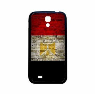 Egypt Brick Wall Flag Samsung Galaxy S4 Black Silcone Case   Provides Great Protection Cell Phones & Accessories