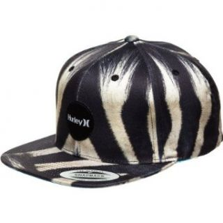 Hurley Krush Snapback Hat Zebra, One Size Clothing