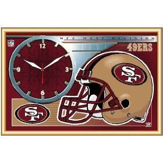 NFL San Francisco 49ers Framed Clock  Sports Related Merchandise  Sports & Outdoors