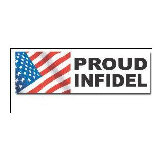 "Proud Infidel Bumper Sticker Decal 3.5""x10""   Large Automotive"