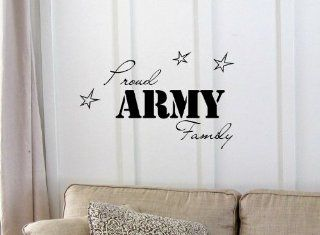 Newsee Decals Proud ARMY Family Vinyl wall art Inspirational quotes and saying home decor decal sticker