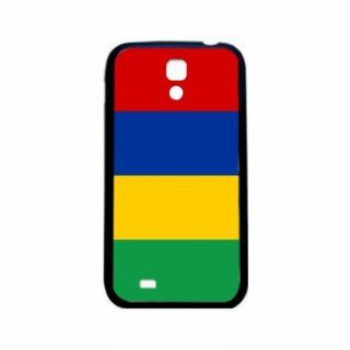 Mauritius Flag Samsung Galaxy S4 Black Silcone Case   Provides Great Protection Cell Phones & Accessories