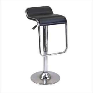 Winsome Oslo Air Lift Backless Stool with Footrest in Black/Chrome   93114