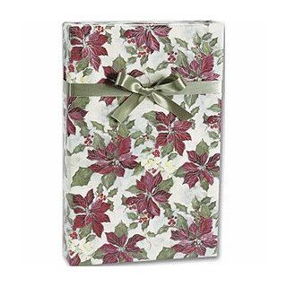 "Painterly Poinsettias Gift Wrap, 24"" x 417' Health & Personal Care"