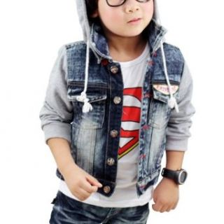Little Hand Kids Hoodies Toddler Coats Jeans Denim Colorblock Jackets 2 8 Years 3T Clothing