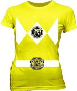 Power Rangers Yellow Ranger Costume Yellow Juniors T Shirt Tee Clothing