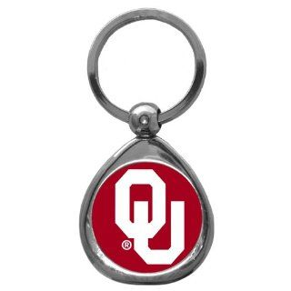 Oklahoma Sooners Chrome Metal Key Chain KeyChain Officially Licensed Collegiate NCAA Merchandise Team Logo  Sports Related Key Chains  Sports & Outdoors