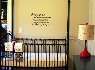 Newsee Decals #2 Promise me you'll always rememberWinnie the Pooh Vinyl wall art Inspirational quotes and saying home decor decal sticker   Promise Me You Ll Always Remember You Re Braver Than You Believe
