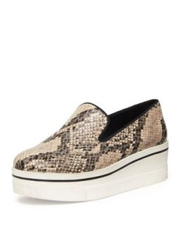 Faux Snake Thick Sole Skate Shoe   Stella McCartney   Dust/Black (39.0B/9.0B)