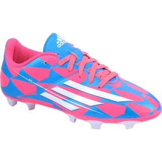 adidas Girls F5 FG J Low Soccer Cleats   Size 1, Pink/blue