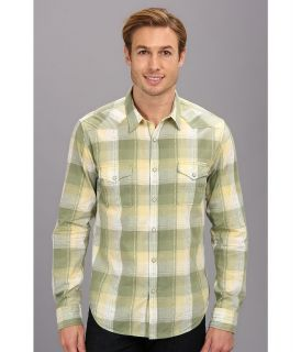 Lucky Brand Minturn Western Shirt Mens Long Sleeve Button Up (Green)