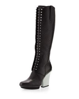 Runway Juno Lace Up Leather Knee Boot, Black   3.1 Phillip Lim   Black (40.