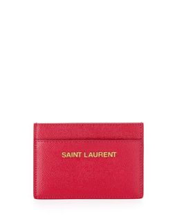 Letters Credit Card Case, Pink   Saint Laurent   Pink