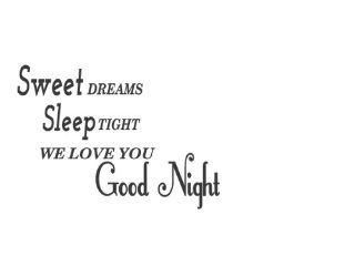 Removable Sweet Dreams Sleep Tight We Love You Goodnight Baby Vinyl Wall Art Decal Quote Saying Decal Home Decor Sticker Saying New Letters Design Quotes