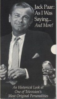 Jack Paar As I Was Saying & More [VHS] Jack Paar, Paul Keyes, Hal Gurnee, Hugh Downs, Muhammad Ali, Woody Allen, Cliff Arquette, Hy Averback, Jack Benny, Richard Burton, Godfrey Cambridge, Johnny Carson, Bruce Colgate, Michael Macari Jr., Karen Berns