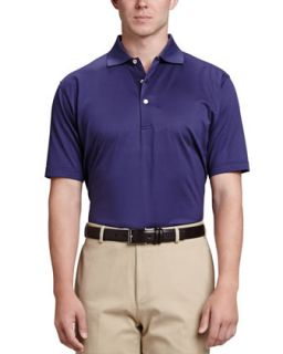 Mens Solid Polo Shirt, Navy   Peter Millar   Navy (MEDIUM)