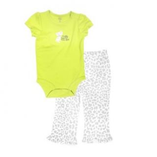 "Carter's Baby girls ""Daddy Says I'm Purr Fect"" Bodysuit Set (2 Piece) Infant And Toddler Pants Clothing Sets Clothing"
