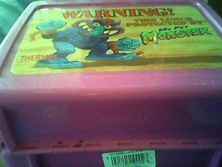 "Thermos Division, king seely Thermos Co., 1986 Those Characters From Cleveland, Inc. Thermos My Pet Monster Plastic Lunchbox   says ""Warning This Lunch Protected By My Pet Monster   thermos (Pink Plastic Lunch Box Version)  Other Products  Everythi"