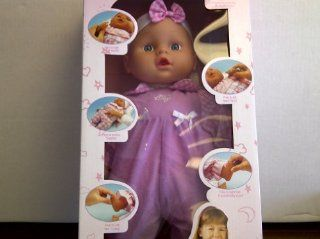 "TBC Baby Doll ""Magic Baby"" Press Hand Says Ma Ma, Press Tummy It Giggles, Press Foot to Cry, Press Hand Says Pa Pa, Press Foot Baby Sounds, and Give Milk Mouth Moves. Children 3 and Older. Two AA Batteries Included. 16 inches tall Toys & Gam"