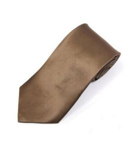 Solid Taupe Silk satin Neck Tie TheDapperTie SS1301 at  Men�s Clothing store Neckties