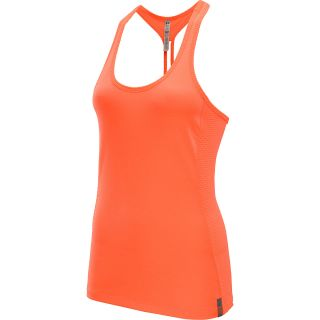 UNDER ARMOUR Womens Fly By Stretch Mesh Tank Top   Size Medium, Citrus/silver