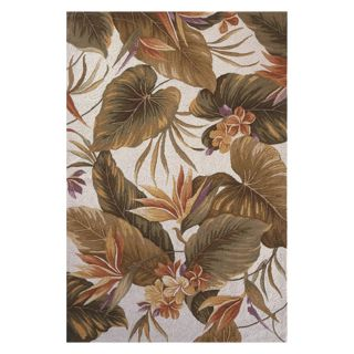 KAS Rugs Colonial 1737 Tropical Paradise Area Rug   Ivory   Area Rugs