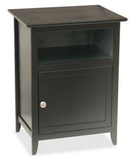 Winsome Black End Table with Storage Cube   End Tables