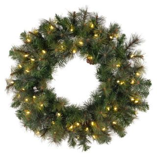 Vickerman Modesto Mix Pine Pre Lit LED Wreath   Christmas Wreaths